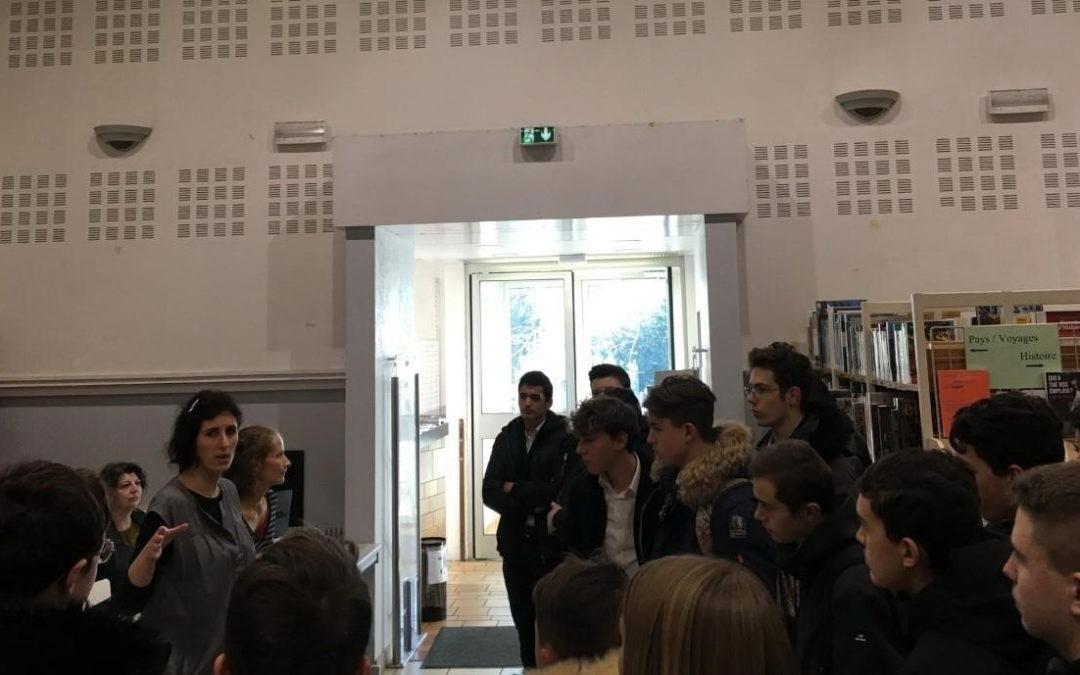 Visite des 3e Prépa-Métiers à la bibliothèque municipale de Rillieux-la-Pape
