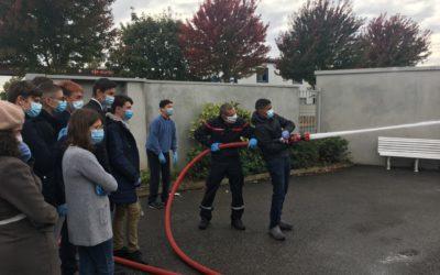 Visite de la caserne des sapeurs-pompiers de Rillieux par les 3PM